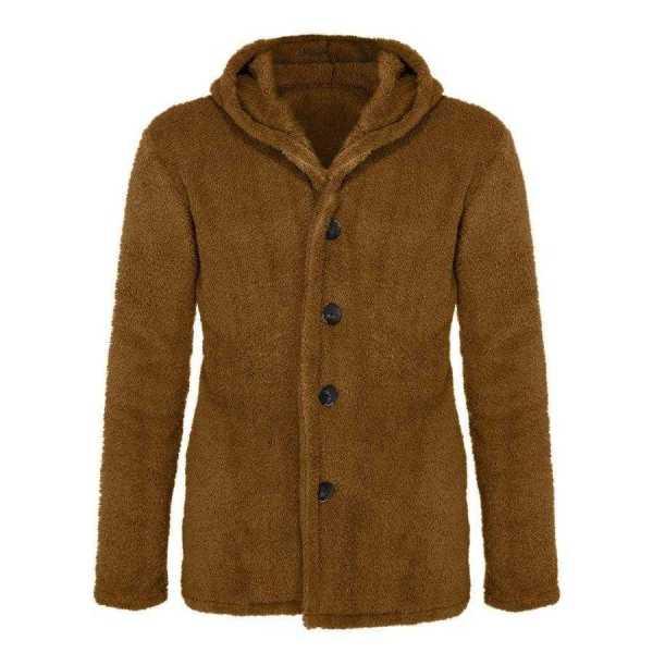 Men's double-sided polar cardigan jacket