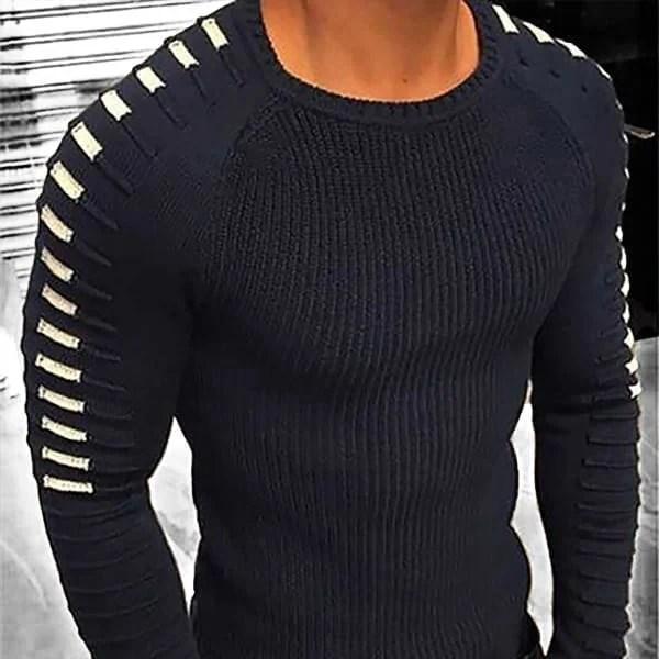 Suéter de lana de punto de estilo delgado para hombre