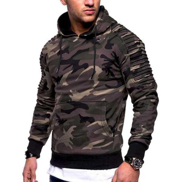 Hoodie sweat à capuche épais style Streetwear modern pour homme