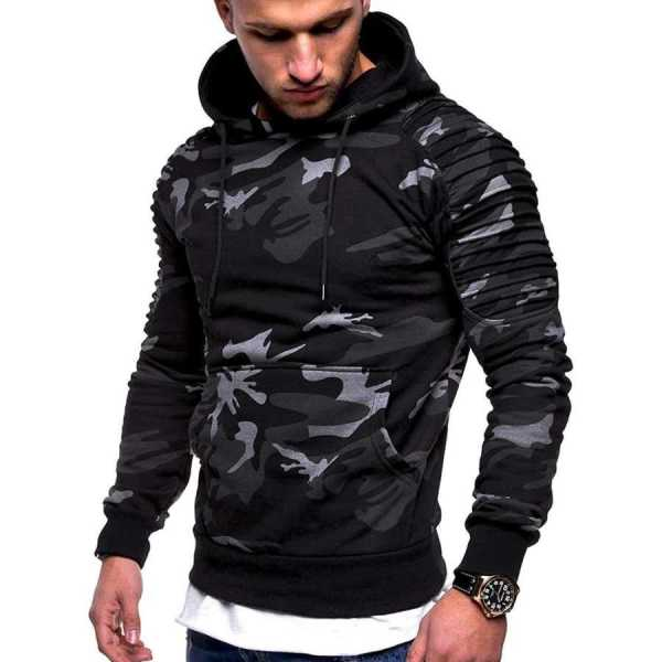 Sudadera con capucha con capucha estilo streetwear moderno y grueso para hombres