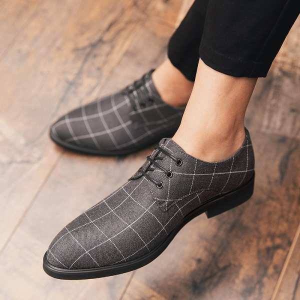 Zapatos casuales casuales a cuadros para hombre