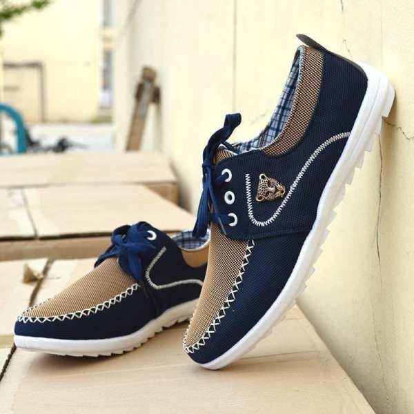 Chaussures décontractées style canvas coréen pour homme
