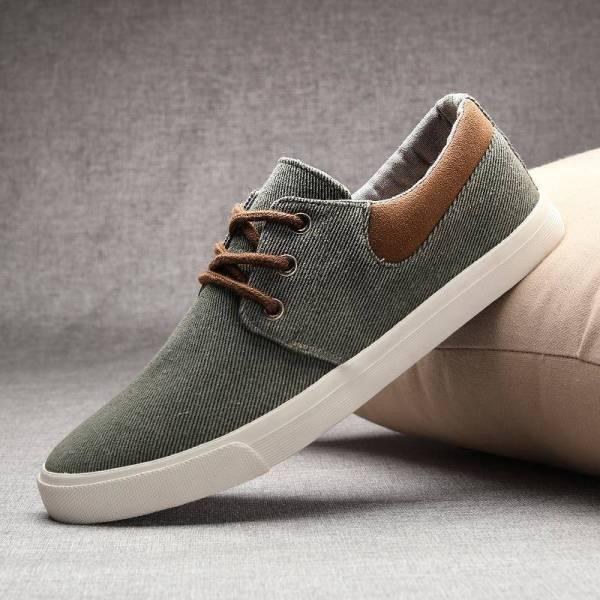 Men's skate-style canvas summer shoes