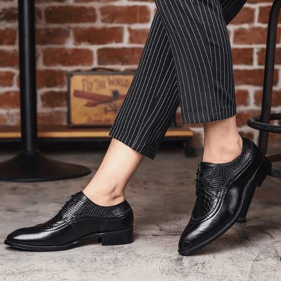 Elegantes zapatos de ciudad estilo ropa de trabajo para hombre