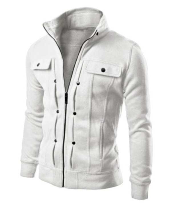 Casual mid-season cardigan jacket for men