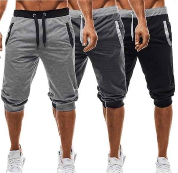 Short décontracté casual cropped trousers homme