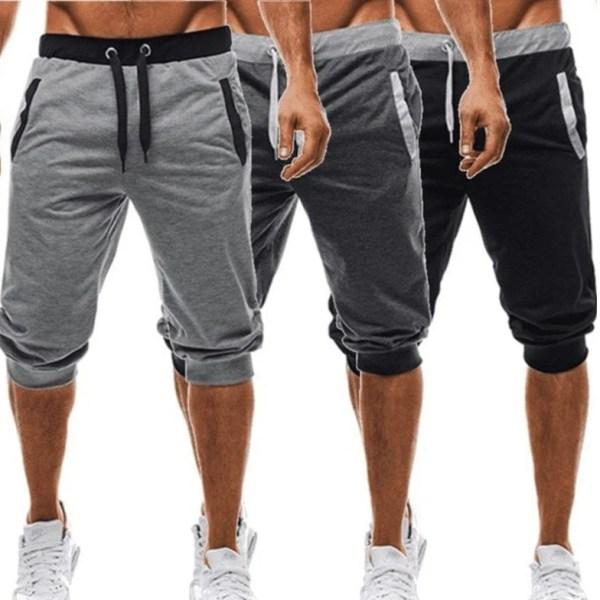 Casual casual casual pantalones cortos recortados hombre