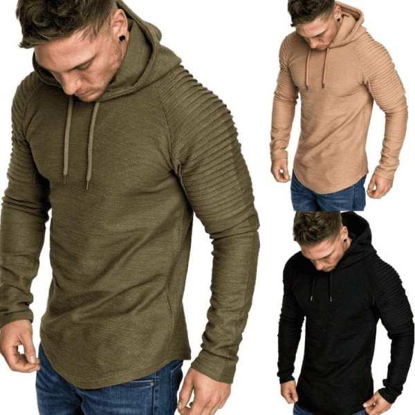 Slim round neck t-shirt design original men's hood