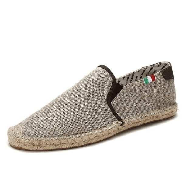 Chaussures canvas tissus élégantes pour hommes