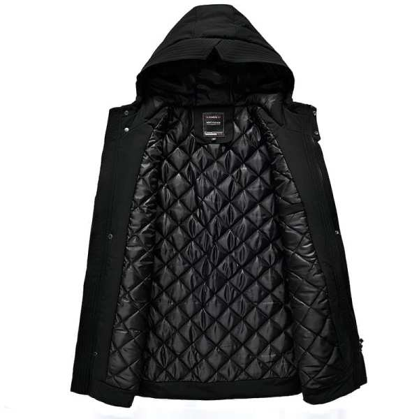 Cotton coat with men's hood