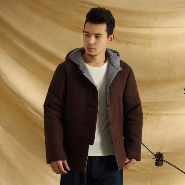Men's modern cotton design warm coat