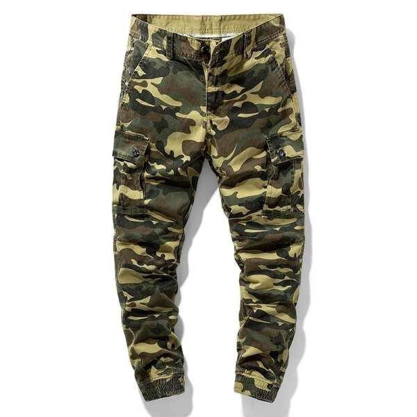 Pantalones de camuflaje estilo carga para hombre