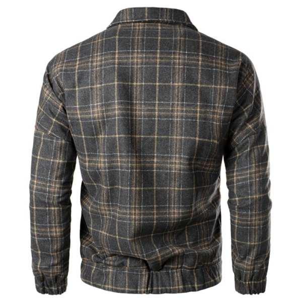 Men's retro-printed wool jacket
