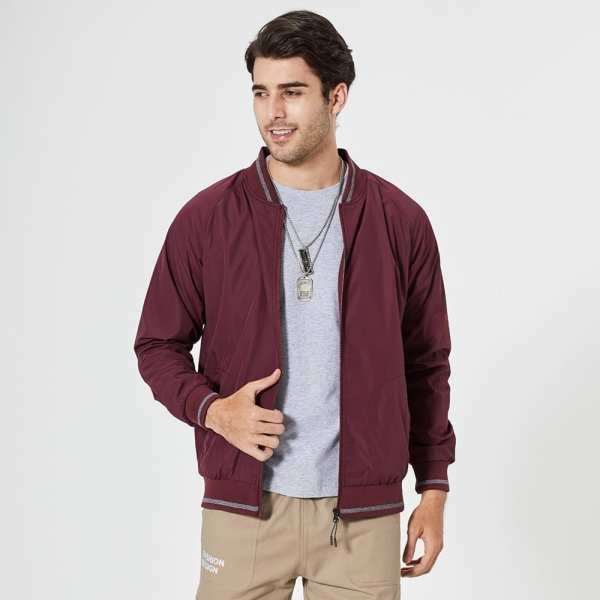 Classic casual men's baseball jacket