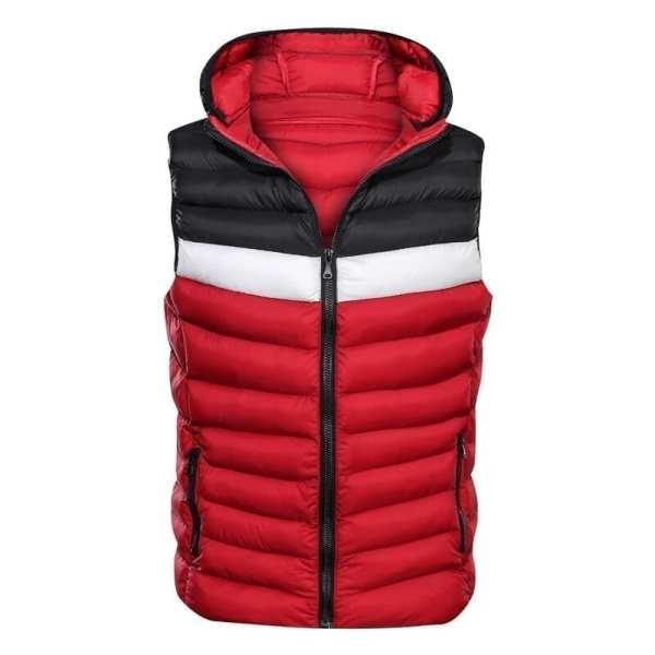 Sleeveless jacket with men's hood