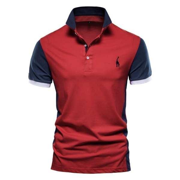 Men's short-sleeved sports polo shirt