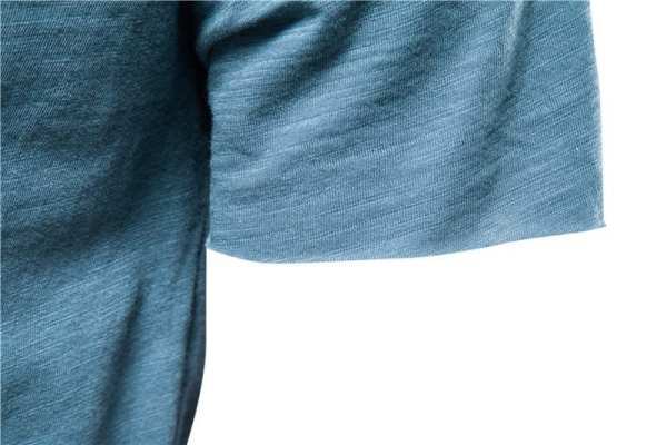 Men's long-neck streetwear v t-shirt