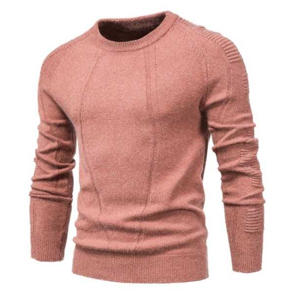 Diseño original de color sólido suéter para hombre