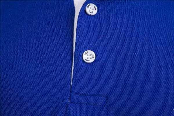 Polo casual bi-couleur broderie pour hommes