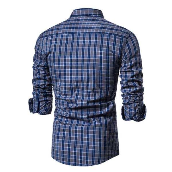 Camisa de azulejos pequeños estilo franela para hombre