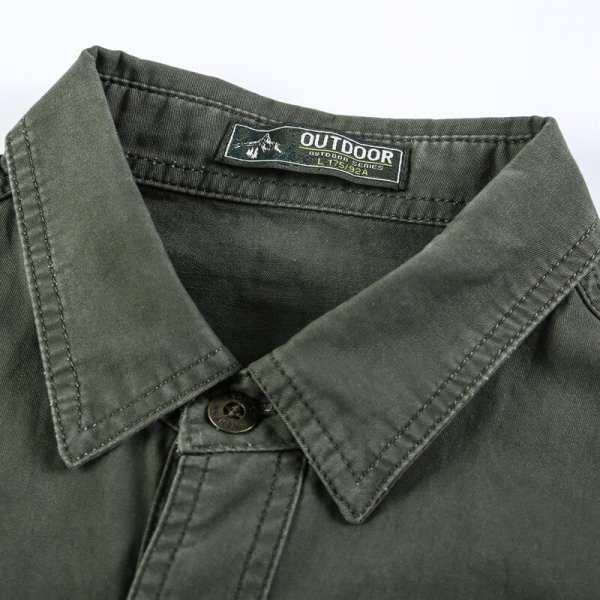 Chemise casual à manches longues pour hommes