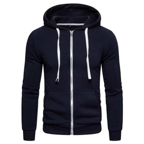 Men's Simple Zippé Hooded Jacket