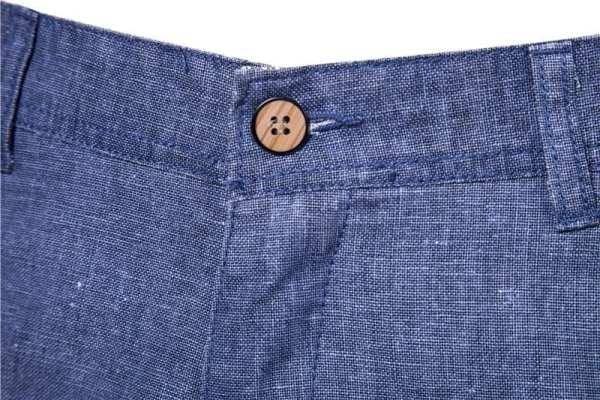 Casual cotton linen shorts for men