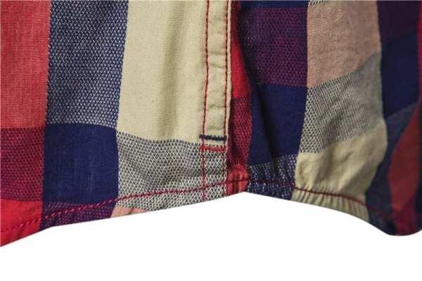 Men's flannel-style plaid shirt