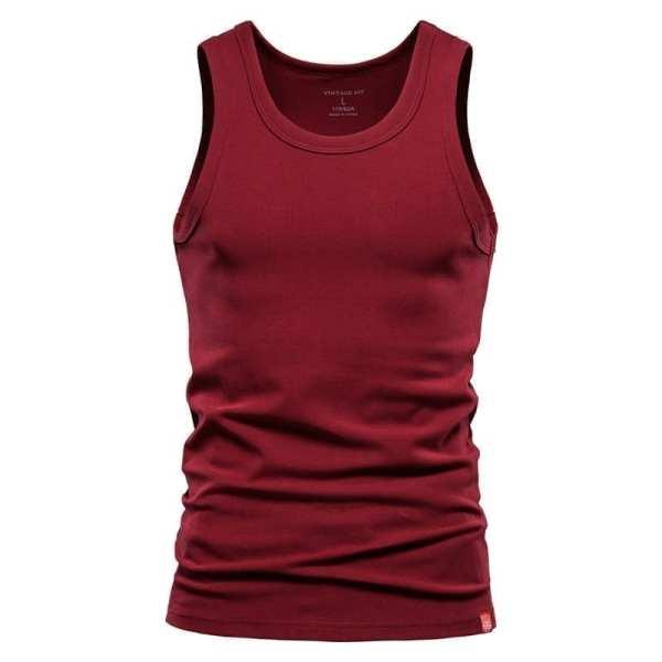 Camiseta sin mangas de color plano para hombre