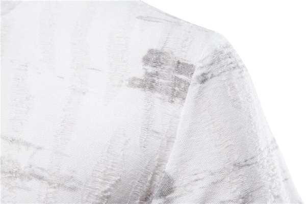 Original estampado de camiseta delgada cuello redondo de los hombres
