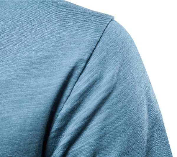 Ropa de calle de cuello largo para hombre v camiseta