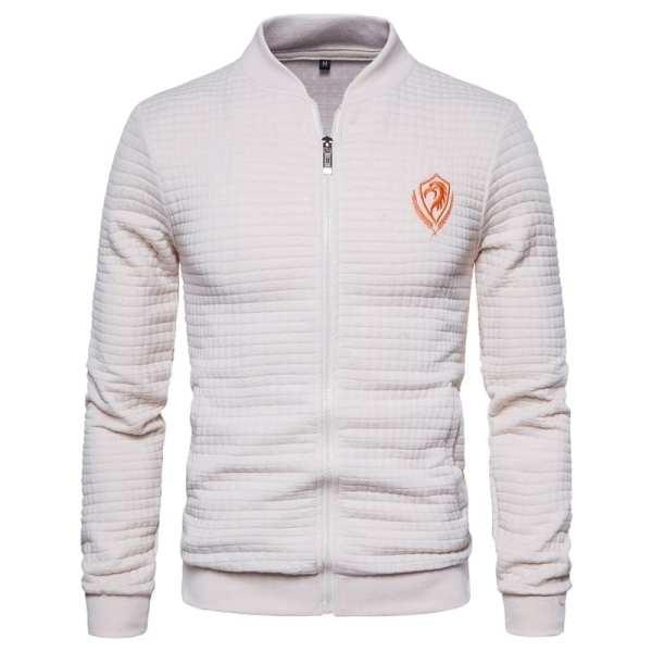 Men's zippered tile design jacket