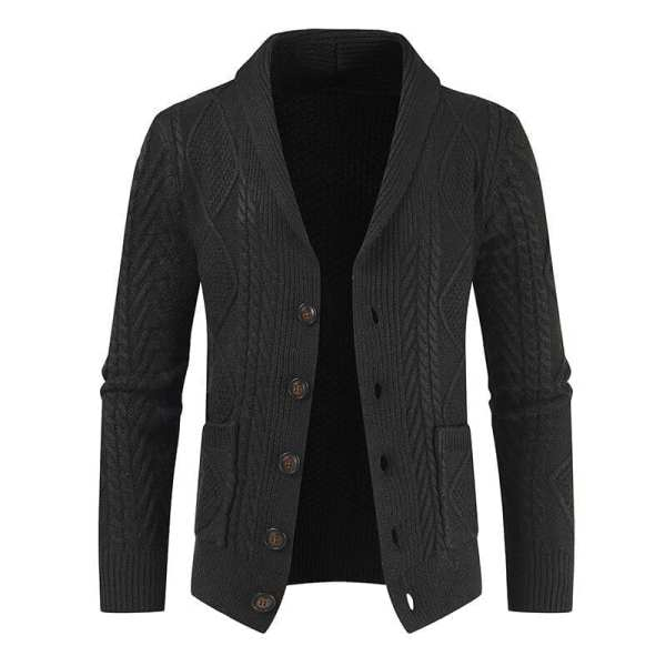 Knitted cardigan jacket with men's button