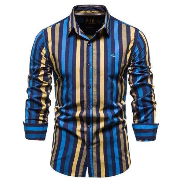 Men's multi-coloured striped shirt