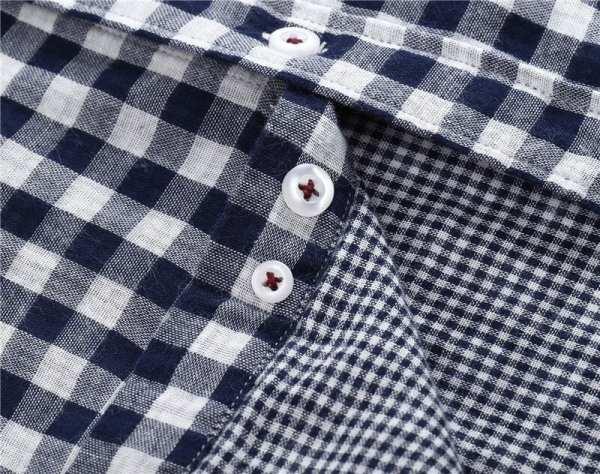 Chemises carreaux manches longues Slim Fit hommes