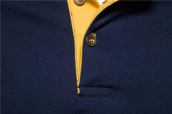 Men's modern design polo short sleeves