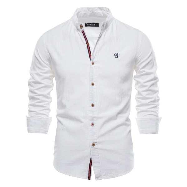 Light linen and cotton shirt for men