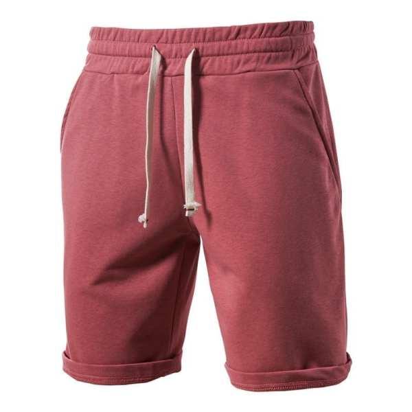 Shorts de algodón suave con cordones masculinos