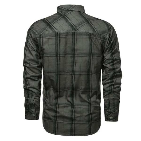 Chemise à carreaux manches longues pour hommes