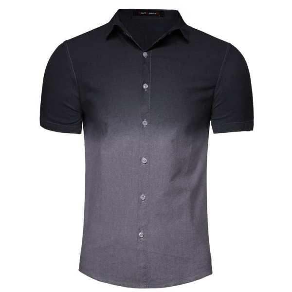 Men's degraded short-sleeved shirt