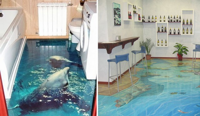 3D Liquid Floors!!!! They Really LOOK LIKE WATER!!