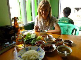 Typical burmese lunch set (Inlay Lake)