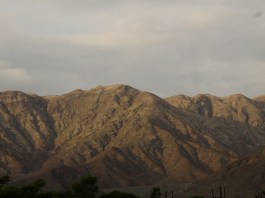View on the dry mountains of Nazca