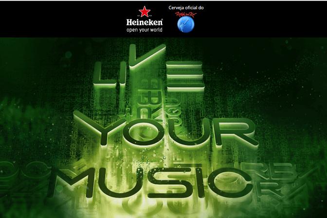 Promoção Heineken leva você para o Rock in Rio