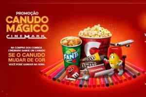 Promoção Canudo Mágico Cinemark