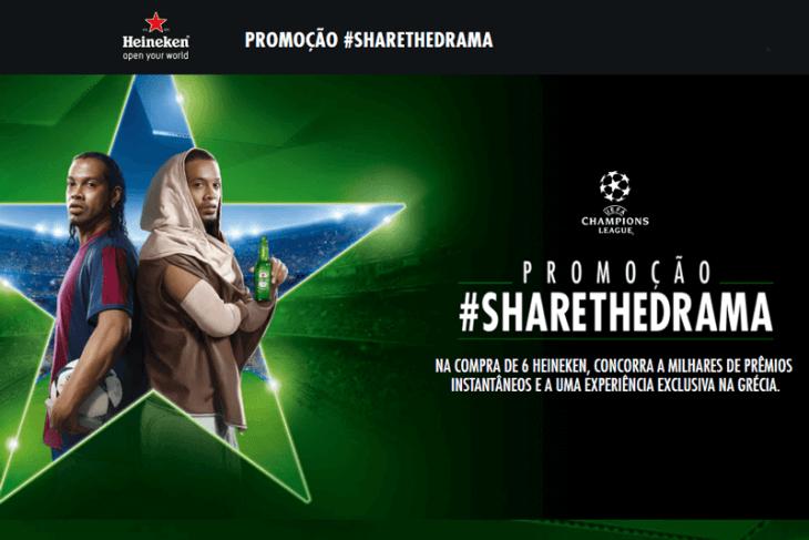 Promoção Heineken 2018 Champions League #SHARETHEDRAMA