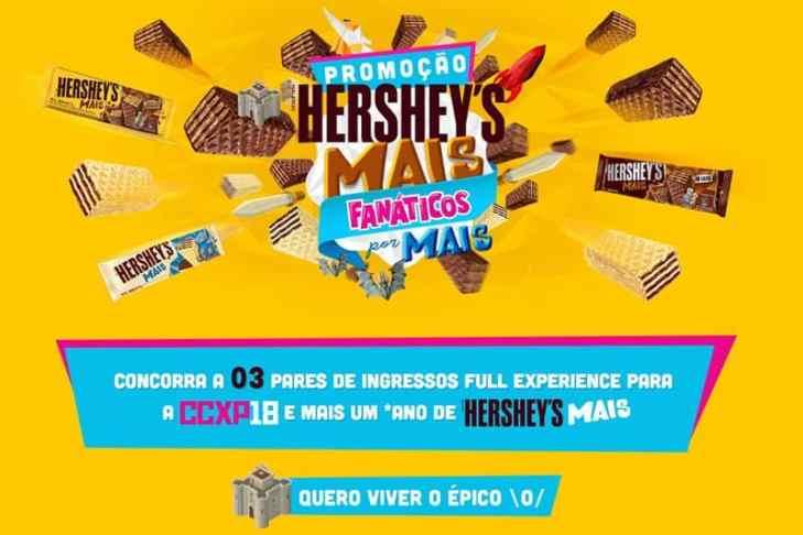 Promoção Hersheys Mais Fanáticos por Mais Comic Con