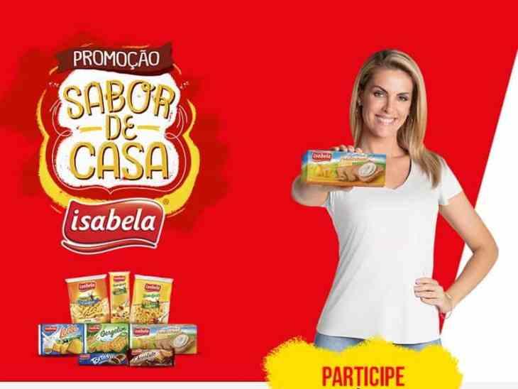 Promoção sabor de casa Isabela