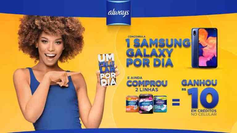 Promoção Always Samsung