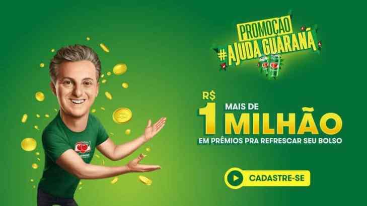 Promoção Ajuda Guaraná mais de um Milhão em prêmios
